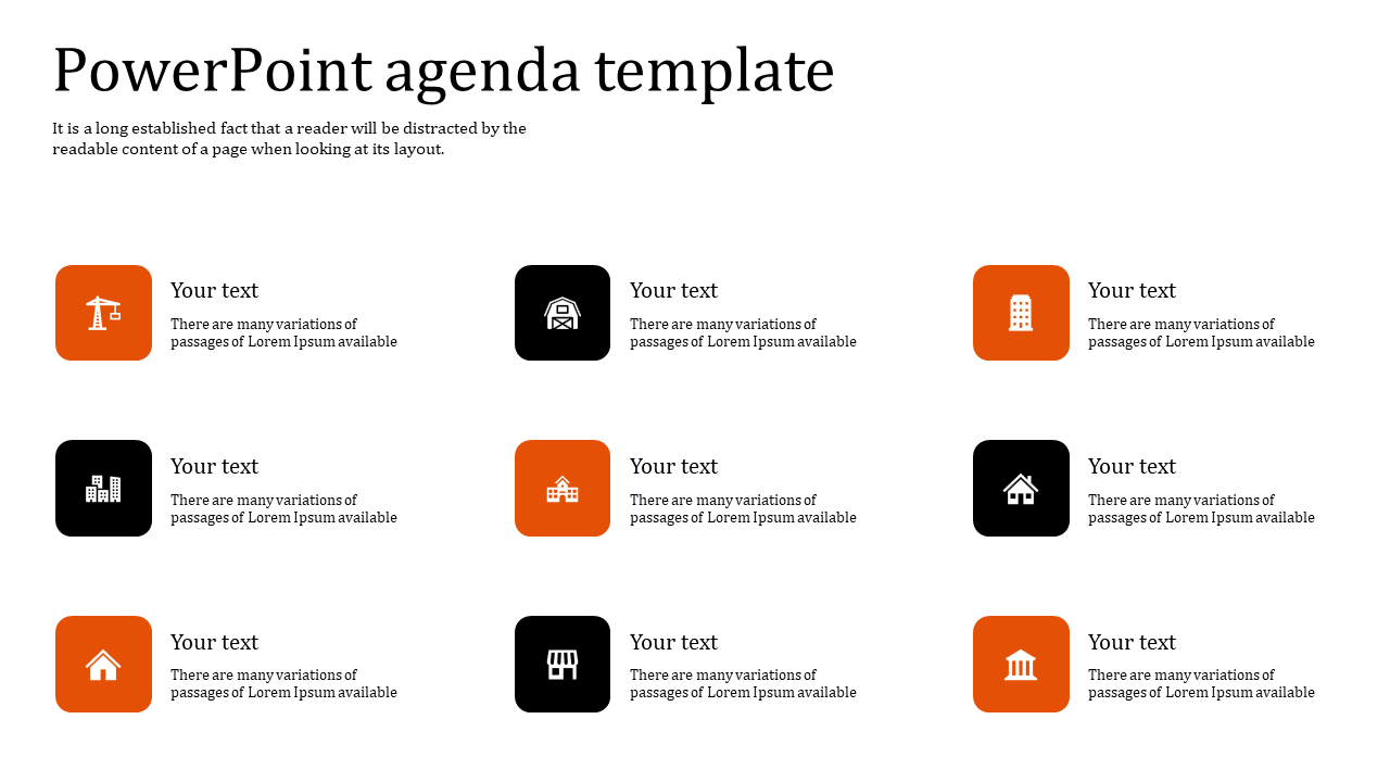 Best powerpoint agenda template
